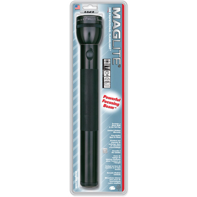 Maglite 4-Cell D White Star Flashlight (Black)