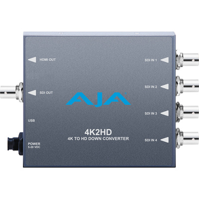 AJA 4K2HD 4K/UHD to 3G/HD/SD-SDI and HDMI Downconverter