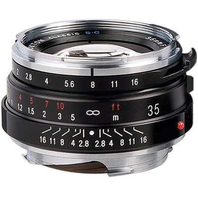 Voigtlander Nokton Classic 35mm f/1.4 Manual Focus M Mount Lens - Black
