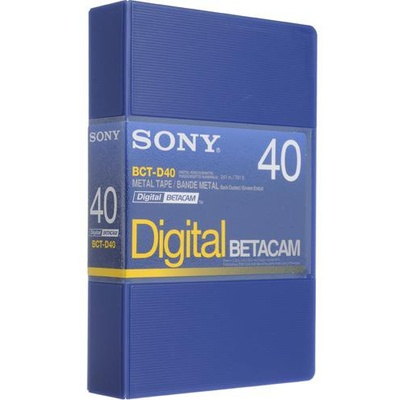 Sony BCT-D40 Digital Betacam Video Cassette (40 Minute)
