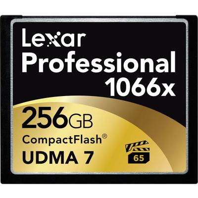 Lexar 256GB Professional 1066x CompactFlash Memory Card (UDMA 7)