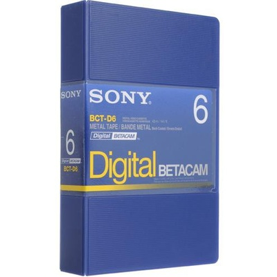 Sony BCT-D6 Digital Betacam Video Cassette (6 minute)