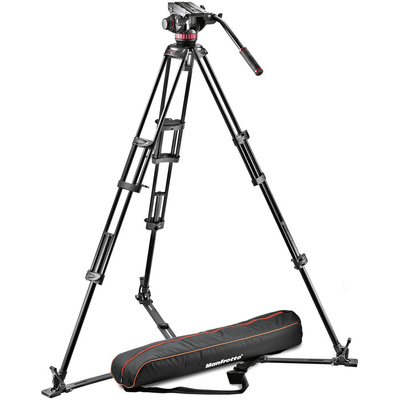 Manfrotto MVH502A Ball Base Fluid Head / 546GB Tripod / and Carrying Bag