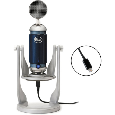 Blue Spark Digital Studio Condenser USB/Lightning Microphone for PC/Mac/iPad