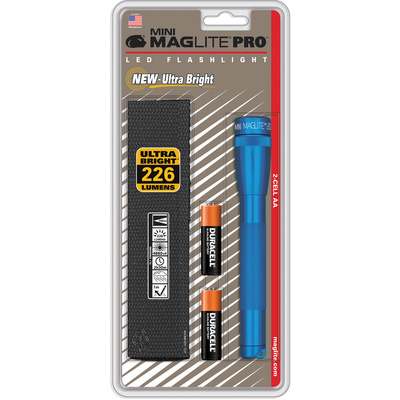 Maglite SP2P11H Mini Maglite Pro 2AA LED Flashlight with Holster (Blue)