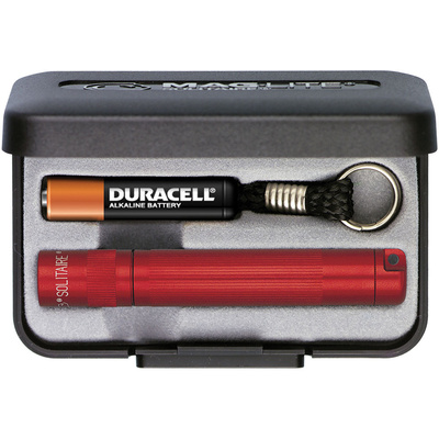 Maglite K3A032 Solitaire 1-Cell AAA Flashlight with Presentation Box (Red)