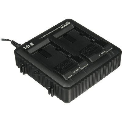 IDX 2-Channel Simultaneous Charger for SSL-JVC50 JVC Batteries