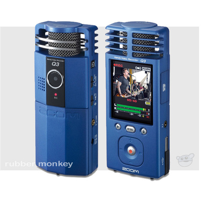 Zoom Q3 Video Recorder (Blue)