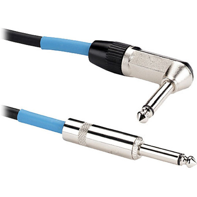 "Samson Tourtek Series 1/4"" Mono Male to 1/4"" Mono Right-Angle Male Instrument Cable - 25'"