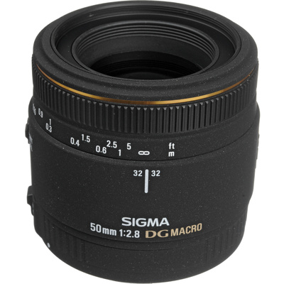 Sigma Normal 50mm f/2.8 (D) EX DG Macro Autofocus Lens for Sony Alpha & Minolta Maxxum Series