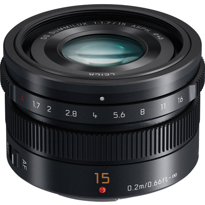Panasonic LUMIX G Leica DG Summilux 15mm f/1.7 ASPH. Lens (Black)