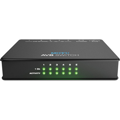 MOTU AVB Switch - Five-Port AVB Ethernet Switch