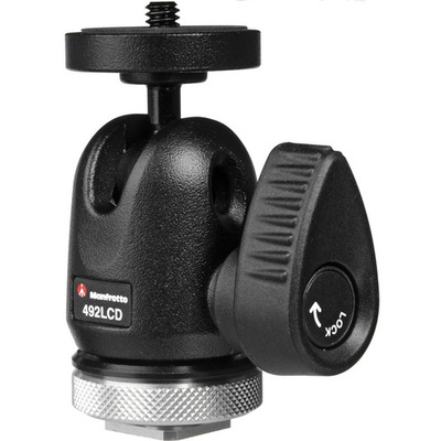 Manfrotto 492LCD - Micro Ball Head with Shoe Mount
