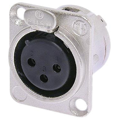 Neutrik NC3FD-L-1 3-Pole Female XLR Receptacle