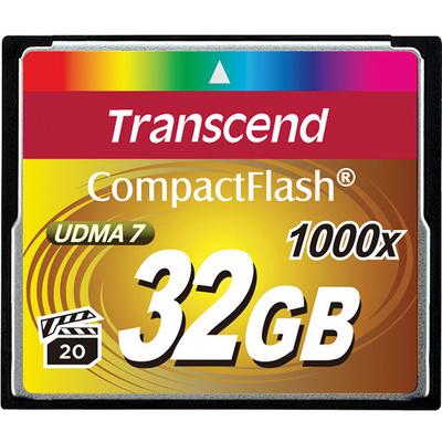 Transcend 32GB CompactFlash Memory Card Ultimate 1000x UDMA
