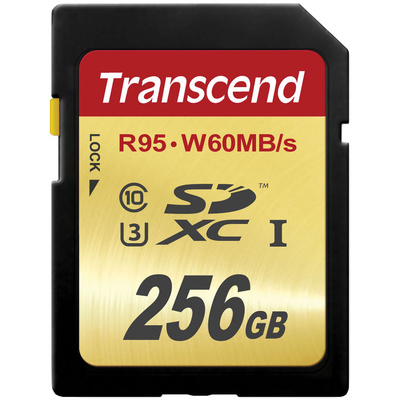 Transcend 256GB UHS-1 SDXC Memory Card (Speed Class 3)