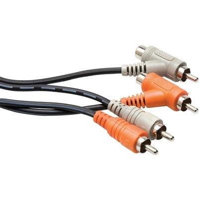 Hosa CRA-201PB RCA Piggyback Cable 1m