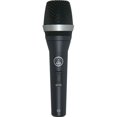 AKG D5S Handheld Supercardioid Dynamic Vocal Microphone with On/Off Switch
