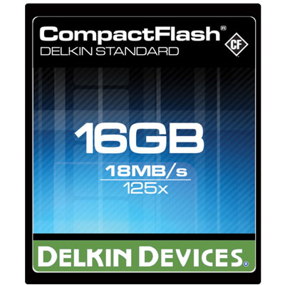 Delkin 16GB Compact Flash Card