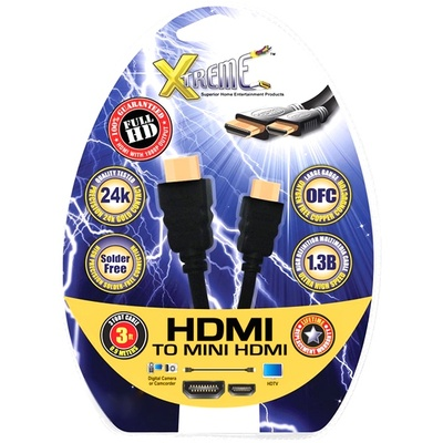 Xtreme Cables HDMI to Mini HDMI Cable 3ft