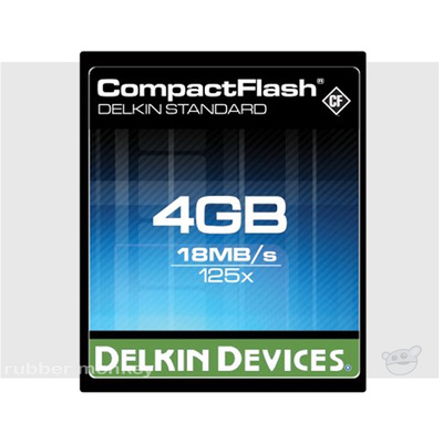 Delkin Compact Flash Card 4GB 125x