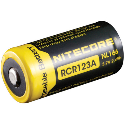 NITECORE NL166 Li-Ion Rechargeable Battery RCR123A (3.7V, 650mAh)