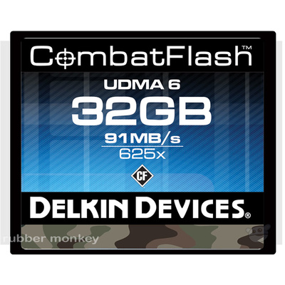 Delkin Combat Compact Flash Card 32GB CF