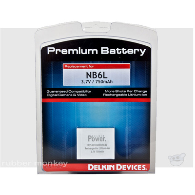 Delkin NB6L Battery