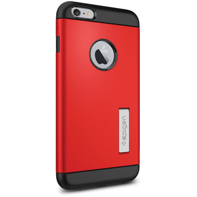 Spigen Apple iPhone 6 Plus Case Slim Armor (Electric Red, Retail Packaging)