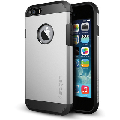 Spigen Tough Armor Case for Apple iPhone 6 (Satin Silver)