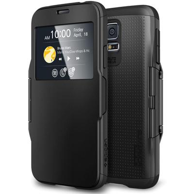 Spigen Galaxy S5 Case Slim Armor View (Smooth Black)