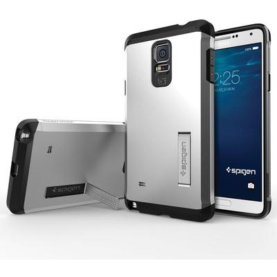 Spigen Tough Armor Case for Samsung Galaxy Note 4 (Satin Silver)