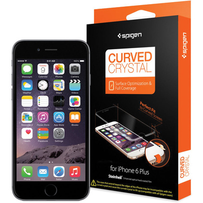 Spigen Steinheil Curved Crystal Screen Protector for Apple iPhone 6 Plus (2-Pack)