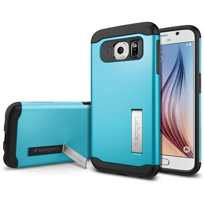 Spigen Samsung Galaxy S6 Case Slim Armor (Electric Blue, Retail Packaging)