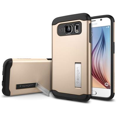 Spigen Samsung Galaxy S6 Case Slim Armor (Champagne Gold, Retail Packaging)