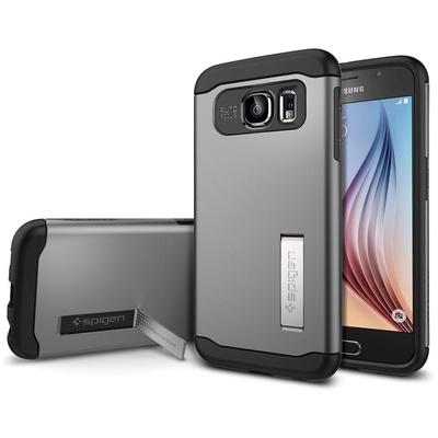 Spigen Samsung Galaxy S6 Case Slim Armor (Gunmetal, Retail Packaging)