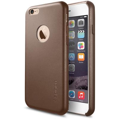 Spigen Leather Fit Case for iPhone 6 (Olive Brown)