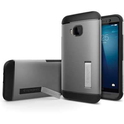Spigen HTC One M9 Case Slim Armor (Gunmetal, Bulk Packaging)