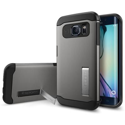 Spigen Samsung Galaxy S6 Edge Case Slim Armor (Gunmetal, Retail Packaging)