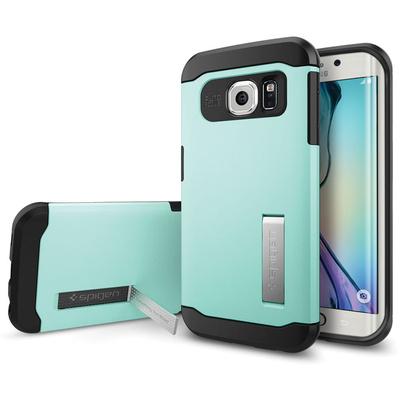Spigen Samsung Galaxy S6 Edge Case Slim Armor (Mint, Retail Packaging)