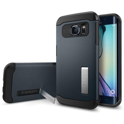 Spigen Samsung Galaxy S6 Edge Case Slim Armor (Metal Slate, Retail Packaging)