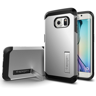 Spigen Tough Armor Case for Samsung Galaxy S6 Edge (Satin Silver)