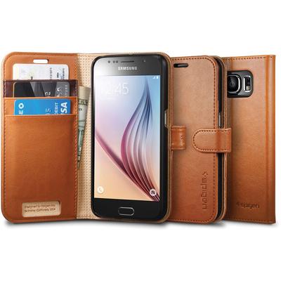 Spigen Case Wallet S for Samsung Galaxy S6 (Brown)