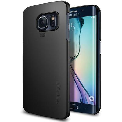 Spigen Thin Fit Case for Samsung Galaxy S6 Edge (Smooth Black)