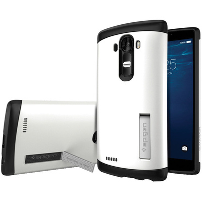 Spigen LG G4 Case Slim Armor (Shimmery White, Retail Packaging)