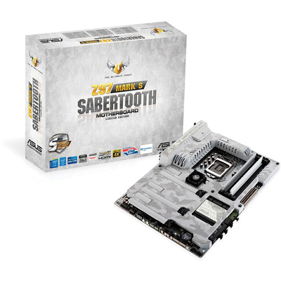 ASUS Sabertooth Z97 Mark S Limited Edition Motherboard (Arctic-Camouflaged)