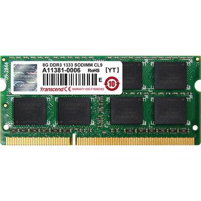 Transcend 8 GB 204-Pin JetRam Series DDR3-1333 Memory Module for Notebooks