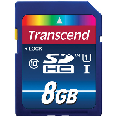 Transcend 8GB SDHC Memory Card Premium Class 10 UHS-I