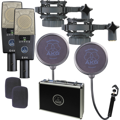 AKG C 414 XLS/ST Large Diaphragm Condenser Microphone (Matched Pair)