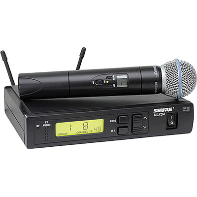 Shure ULX Standard Series - Dual Wireless Handheld Microphone System (J1: 554 - 590 MHz)